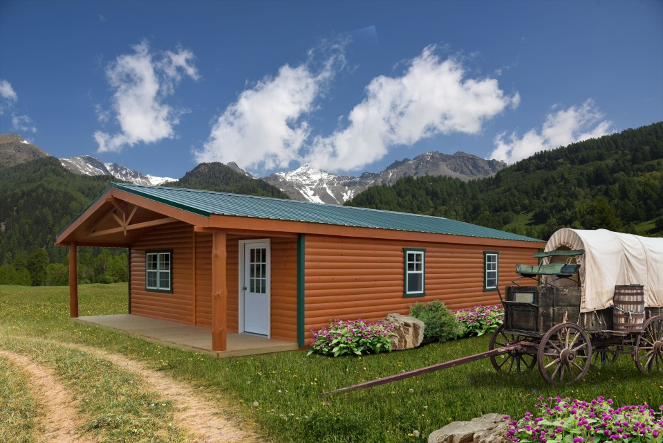 LakeSide Cabins - Premier Collection - Log Double-Wide Cottage