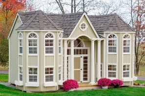 Little Cottage Company 10 X 16 Grand Portico Wooden Outdoor Playhouse Diy Kit With Floor