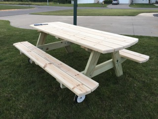 Wooden Picnic Tables