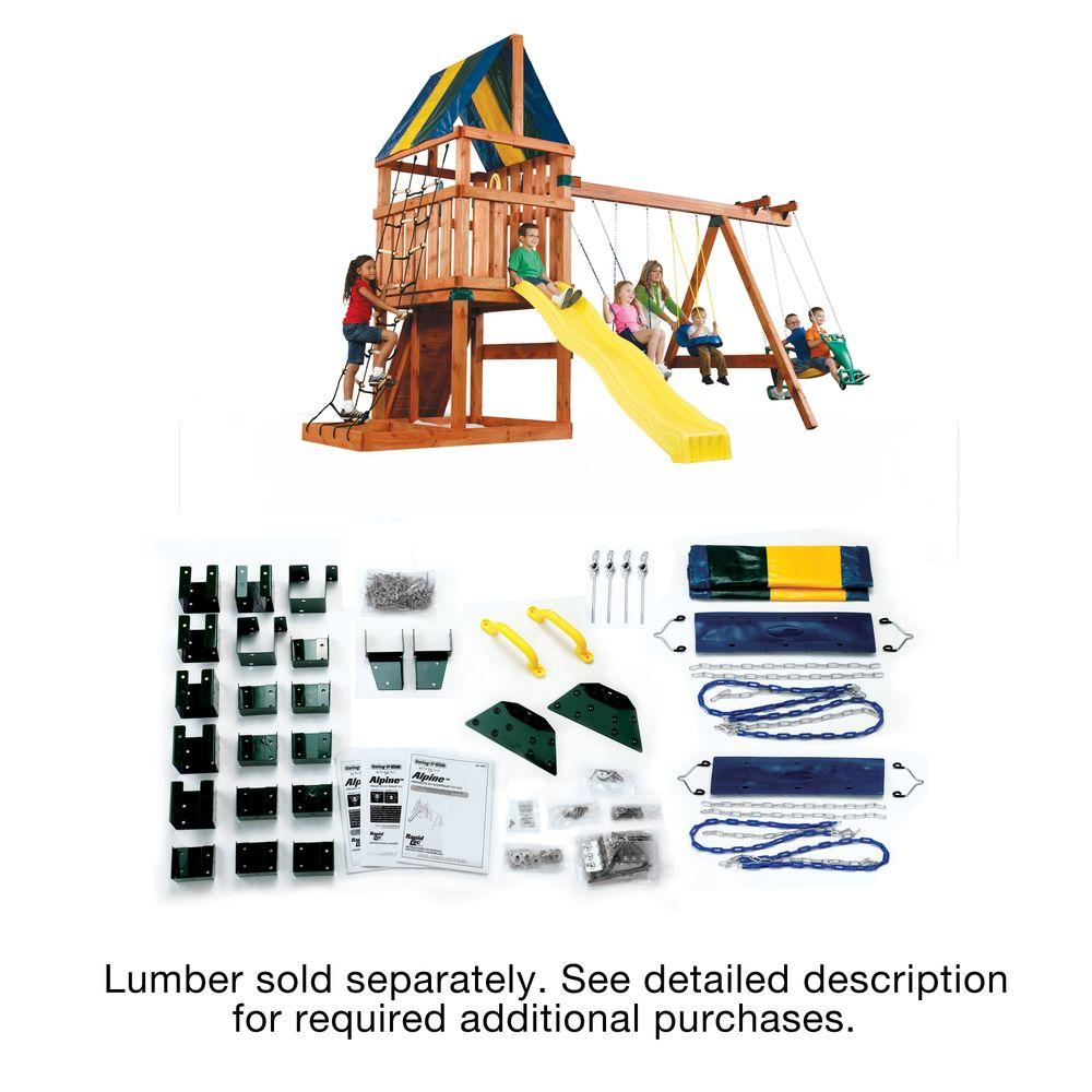 Swing N Slide Alpine Diy Play Set Hardware Kit Custom Ready To Build Swing Set Kit