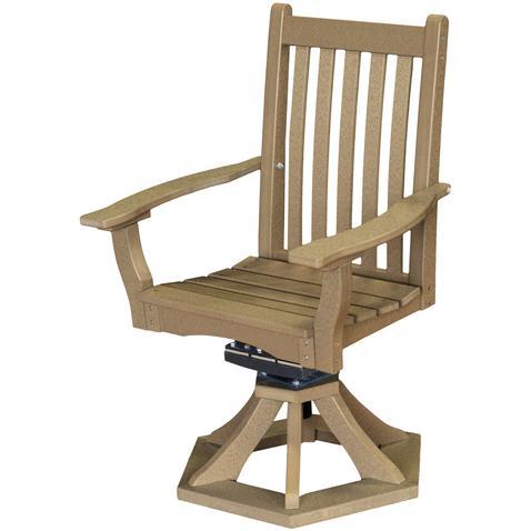 Wildridge Poly Vinyl Furniture Classic Swivel Rocker Side Chair Lcc 255