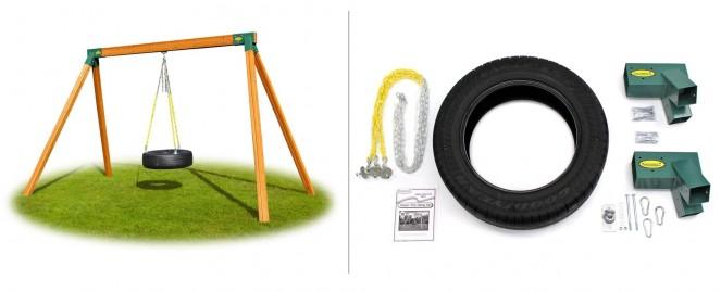 Classic Wooden Tire Swing Hardware Kit No Lumber