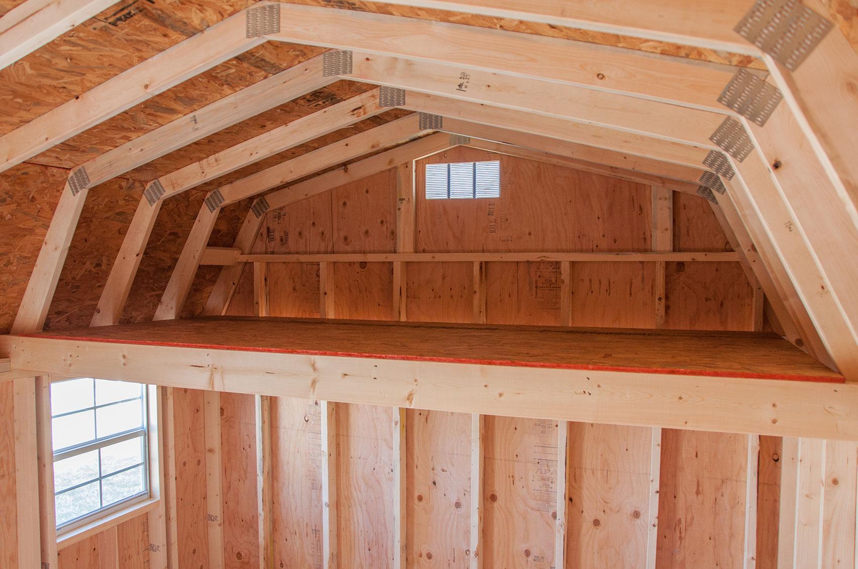 LakeSide Cabins & Sheds Loft Upgrade Option - Wooden ...